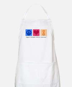 Peace Love Cure MS BBQ Apron