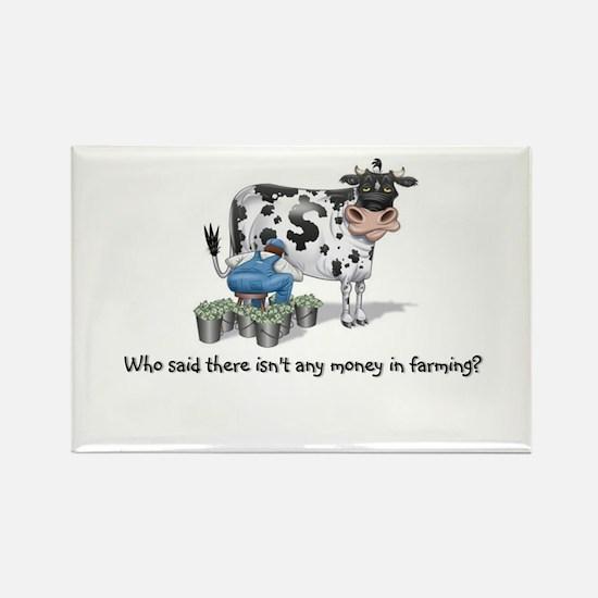 Money Cow Rectangle Magnet