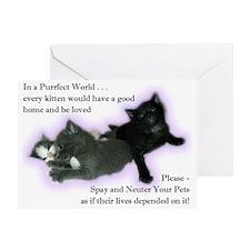 Spay Neuter Kittens Greeting Card