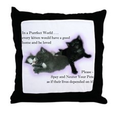 Spay Neuter Kittens Throw Pillow