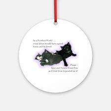 Spay Neuter Kittens Ornament (Round)