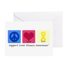 Peace Love Cure LD Greeting Card