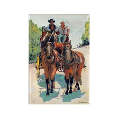 Stagecoach Days by Riccoboni Rectangle Magnet (100