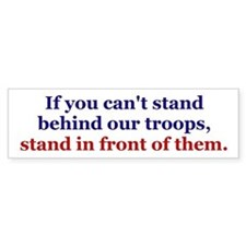Stand in Front Troops Car Sticker
