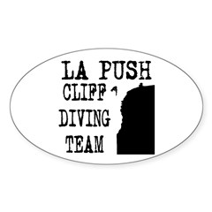 La Push Cliff Diving Team Oval Sticker (50 pk)