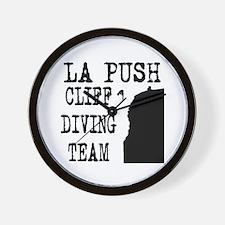 La Push Cliff Diving Team Wall Clock