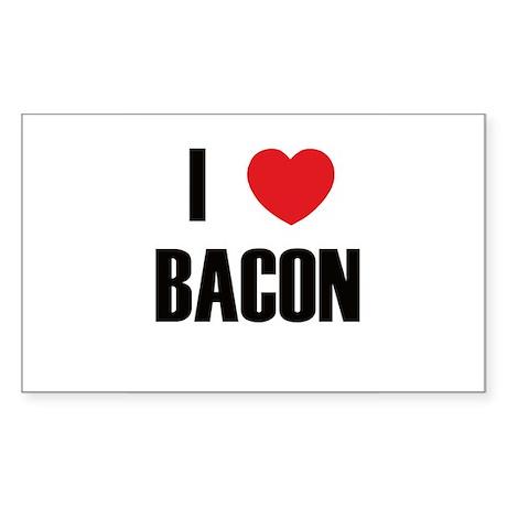I Heart Bacon Rectangle Sticker
