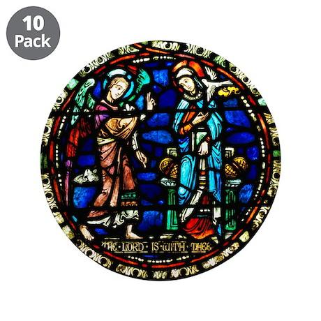 "Annunciation 3.5"" Button (10 pack)"
