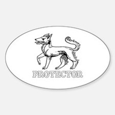 Protector Oval Decal