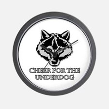 Cheer For The Underdog Wall Clock