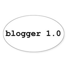 blogger 1.0 Oval Decal