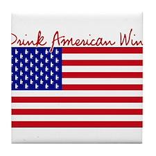 Drink American Wine Tile Coaster