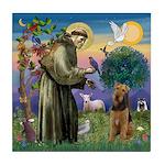 Saint Francis & Airedale Tile Coaster