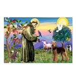 Saint Francis & Airedale Postcards (Package of 8)