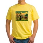 Saint Francis & Airedale Yellow T-Shirt