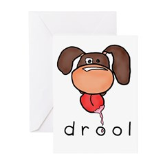 drool Greeting Cards (Pk of 20)