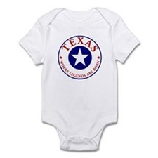 Texas where legends are born Baby Bodysuit