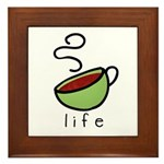 coffee is... Framed Tile