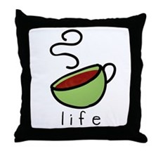 coffee is... Throw Pillow