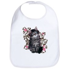 Kitten Cat Abstract Art Bib
