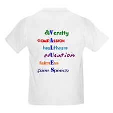 Liberal Values Kids T-Shirt