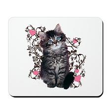 Kitten Cat Abstract Art Mousepad