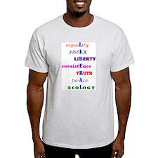 Liberal Values Ash Grey T-Shirt
