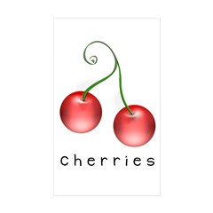cherries Rectangle Sticker 50 pk)