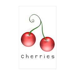 cherries Rectangle Sticker 10 pk)