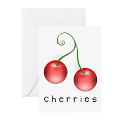 cherries Greeting Cards (Pk of 10)