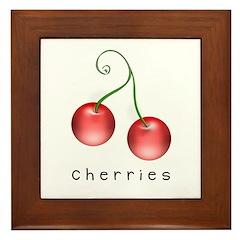 cherries Framed Tile