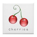 cherries Tile Coaster