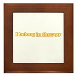 I Belong In Therapy Framed Tile
