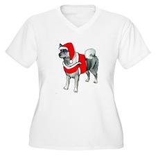 Norwegian Elkhound Santa T-Shirt