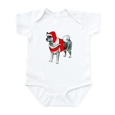 Norwegian Elkhound Santa Infant Bodysuit