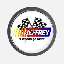 Racing - Jeffrey Wall Clock
