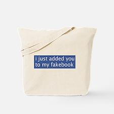 Fakebook Tote Bag