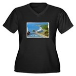 La Push, WA. 3 Women's Plus Size V-Neck Dark T-Shi