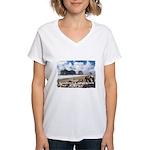 Forks, WA. 1 Women's V-Neck T-Shirt