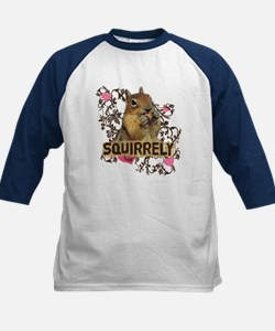 Squirrely Squirrel Lover Kids Baseball Jersey