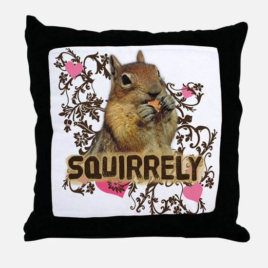 Squirrely Squirrel Lover Throw Pillow