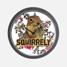 Squirrely Squirrel Lover Wall Clock