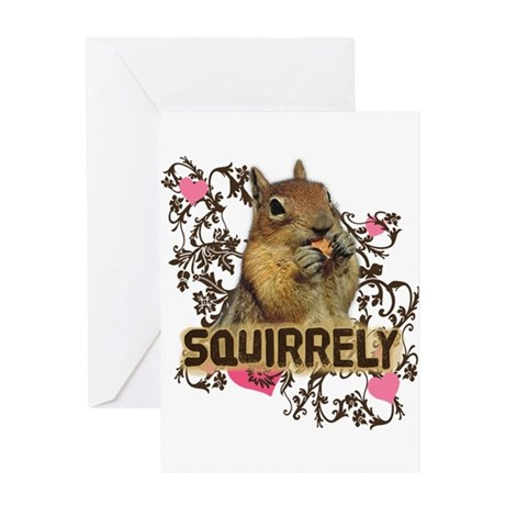 Squirrely Squirrel Lover Greeting Card