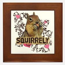 Squirrely Squirrel Lover Framed Tile