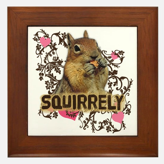 Squirrely Squirrel Lover Framed Tile