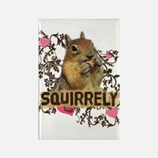 Squirrely Squirrel Lover Rectangle Magnet