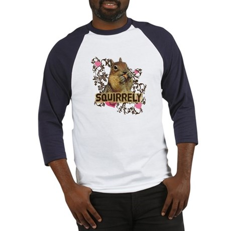 Squirrely Squirrel Lover Baseball Jersey