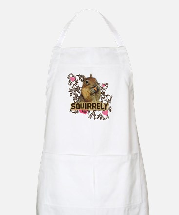 Squirrely Squirrel Lover BBQ Apron