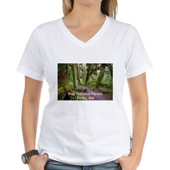 Forks, WA. 3 Women's V-Neck T-Shirt