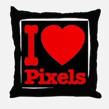 I Love Pixels Throw Pillow